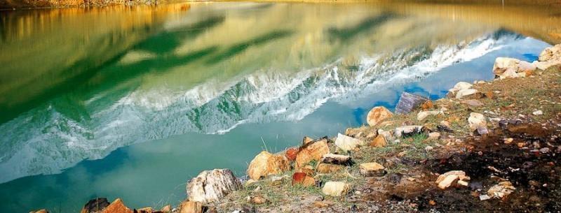 reflection, pangong tso, 2006