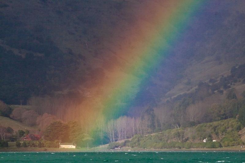 rainbow, akaroa,new zealand, 2010