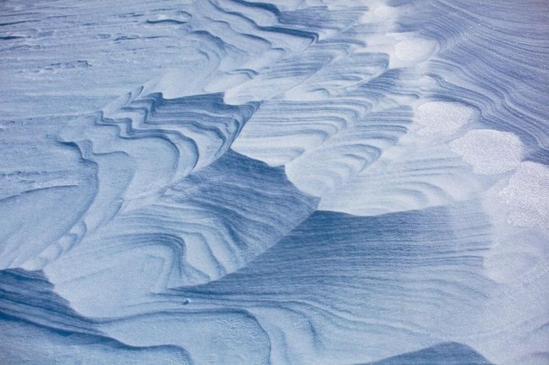 snow patterns, franz josef glacier, new zealand, 2010