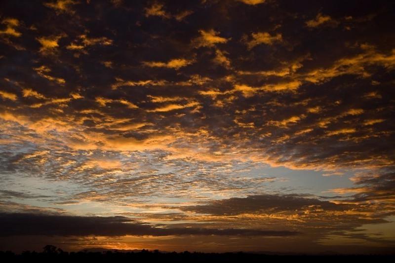 sunset, masai mara, kenya, 2009