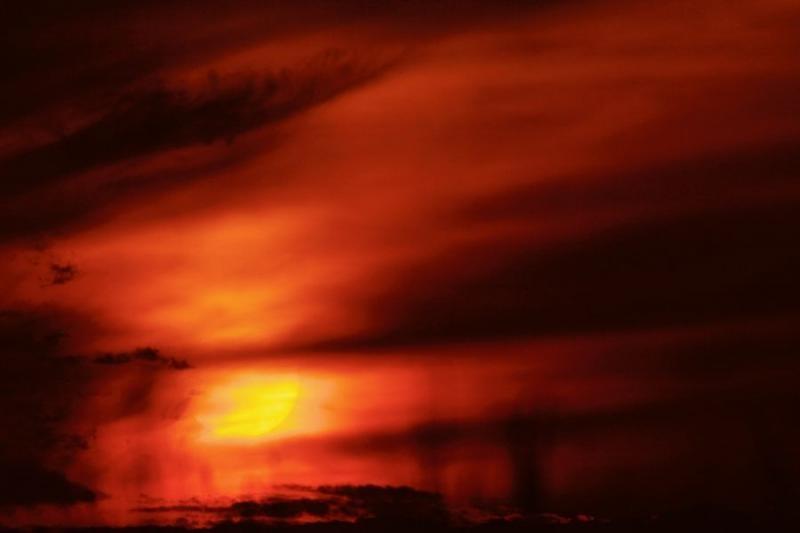 sunset, kaziranga, 2007