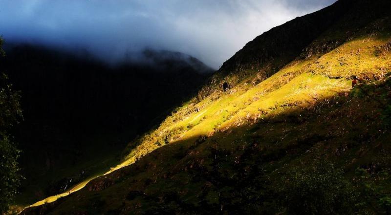 evening rays, glencoe, scotland, 2008
