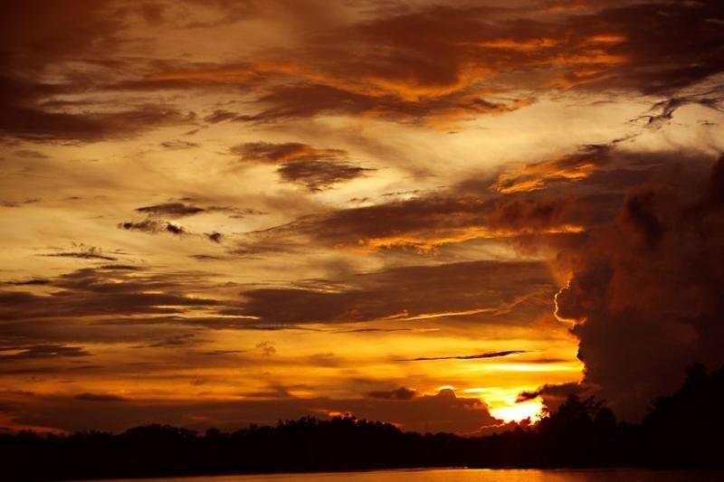 sunset at sarawak, borneo, 2008