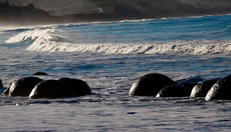 moeraki boulders, otago, new zealand, 2010