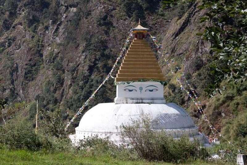 zeimathang gompa where the dalai lama rested after crossing over from tibet, arunachal, 2010