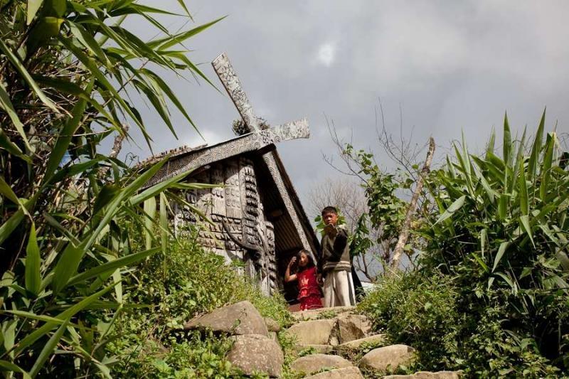 naga house, manipur, 2010