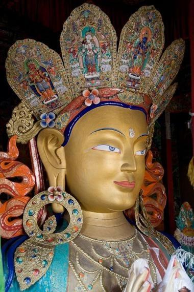 buddha, thikse gompa, ladakh, 2006