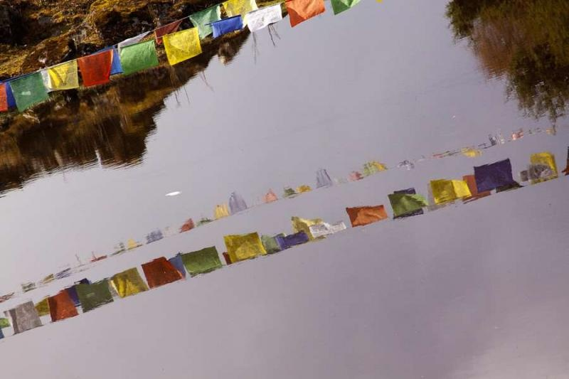 prayer flags, arunachal, 2010