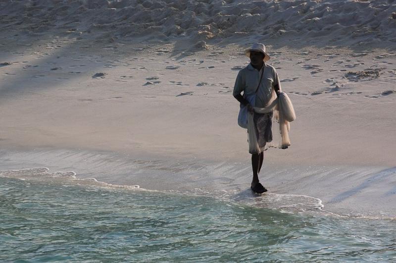 fisherman at agatti, laksadweep, 2008