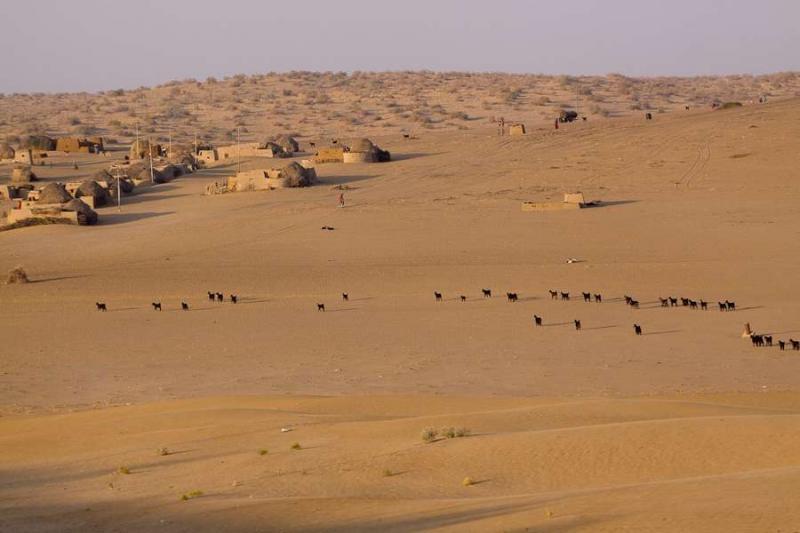 desert village, barmer, 2010
