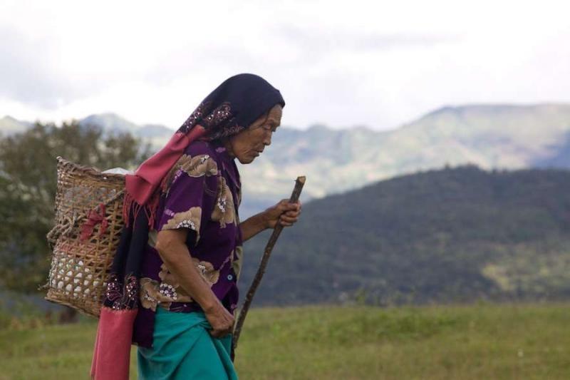 naga lady, manipur, 2010
