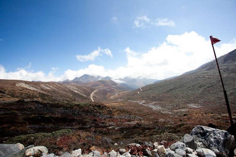 view near bumla pass, arunachal, 2010