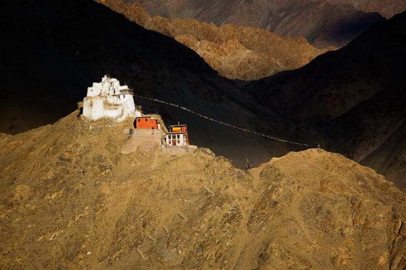 buddhist gompa, ladakh, 2008