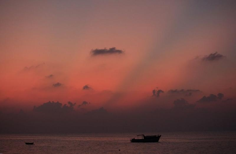 dusk at agatti, lakshadweep, 2008