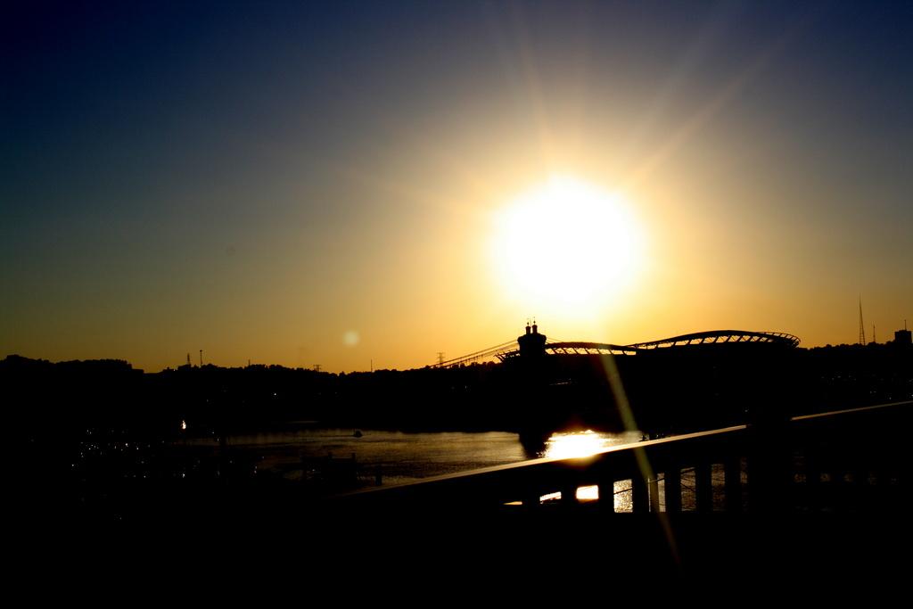 Sunset over Paul Brown Stadium