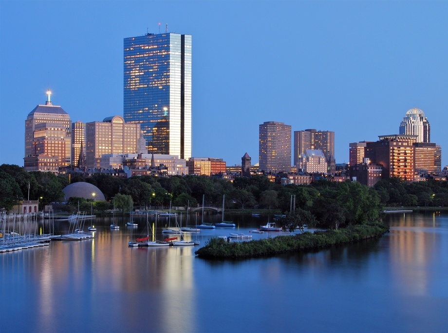 Early Twilight (Back Bay Skyline & Esplanade)