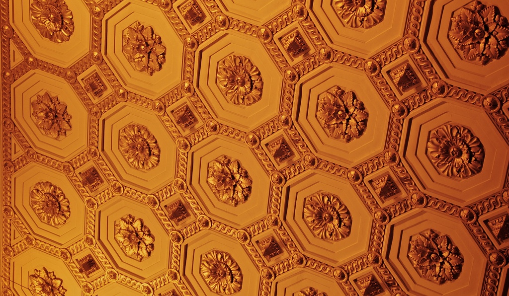 gold ceiling