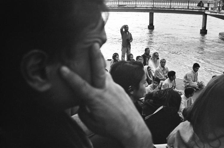 Watching the Puja, Rishikesh 2011   Edition 1 of 2