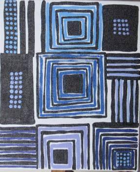 Blue n black dots