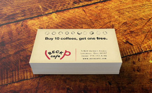 Loyalty Card for the Beck Cafe