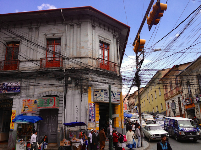 In the streets of La Paz