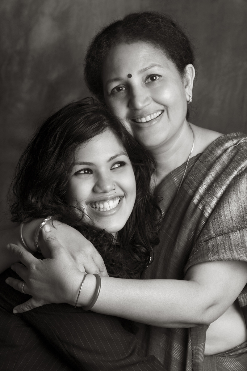 Joyita and her Mom, Pushpita Banerjee.