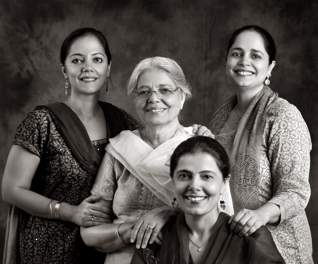 Harloena Srivastava with her Mom, Dasreeta Singh, and sisters Harsohena Kaur and Tripta Singh.
