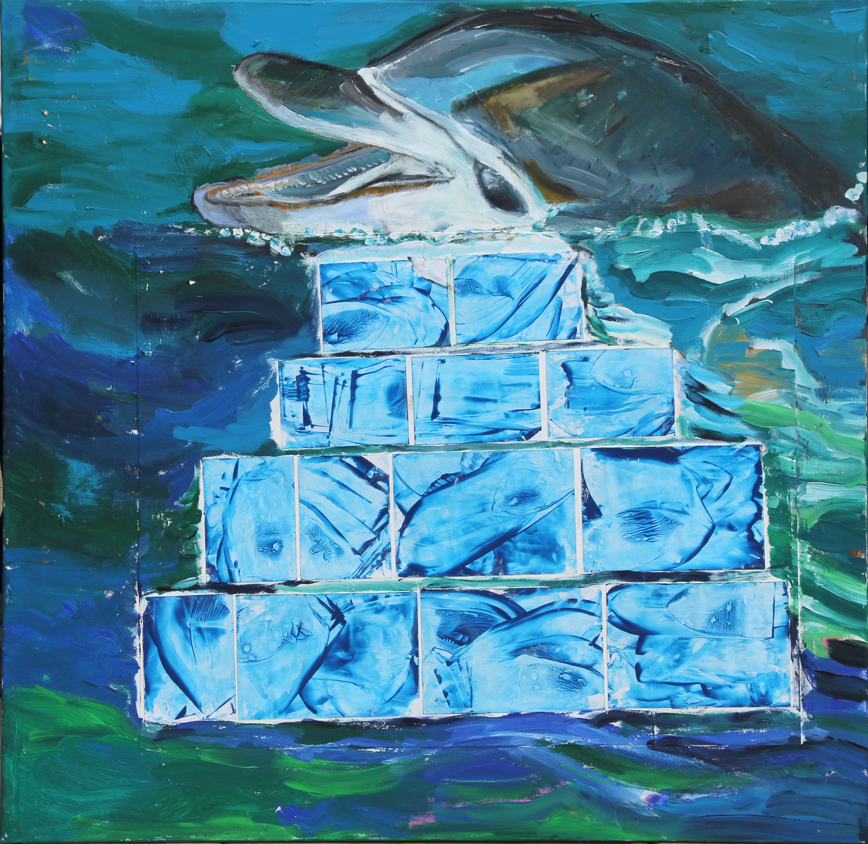 Wassergefühl mit Delfin