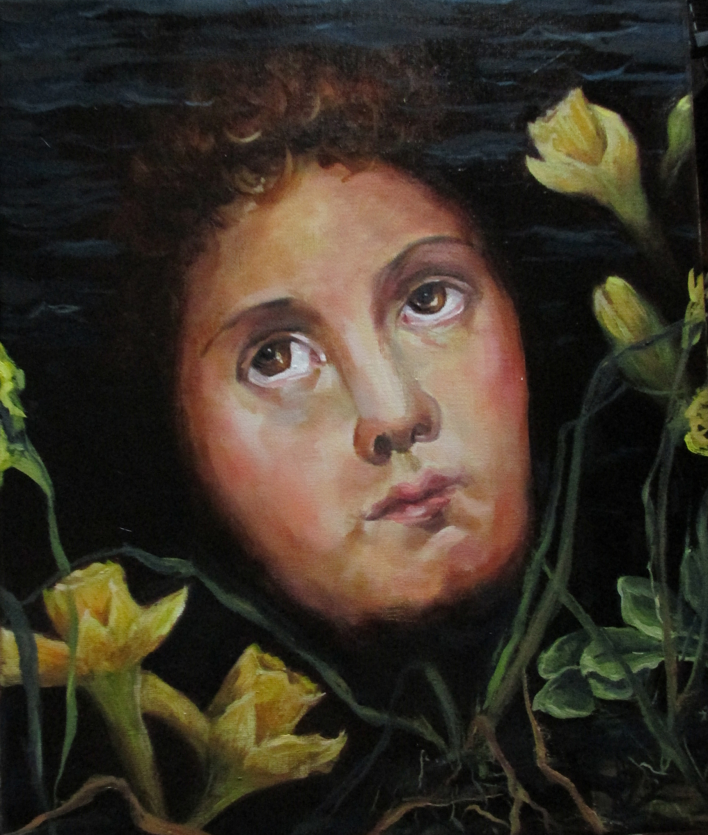 Narcissus reflection, Oil on Linen, 2014