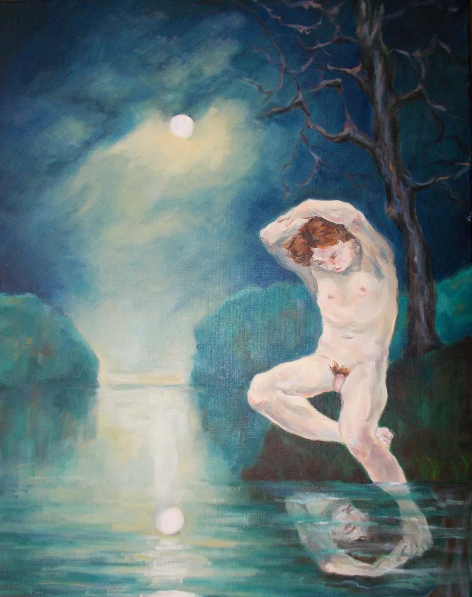 Narcissus, Oil on linen, 2014