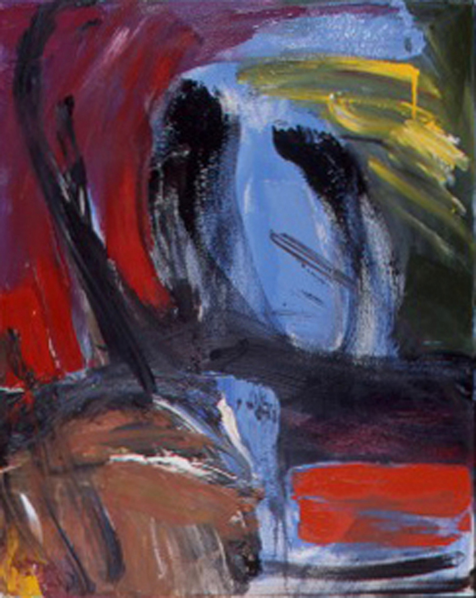 """Bull With Chair, 30"""" X 24"""", Oil on Canvas, 2006, in Private Collection."""