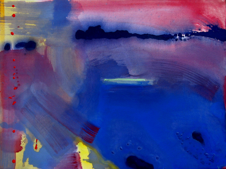 """Dawn To Deep, 36"""" X 48"""", Water Media on Canvas, Varnish, 2008, in Private Collection."""