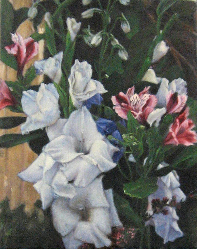 Bouquet, Oil on Linen.  In Private Collection.