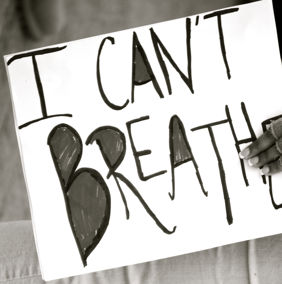 I Can't Breathe Sign