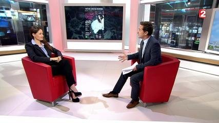 Marie Gillain, French Actress. JT 13H – FRANCE 2 - TV Channel