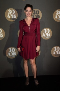 Marie Gillain French Actress, Palais de Tokyo, Paris. 30th Anniversary Party of Canal + TV Channel