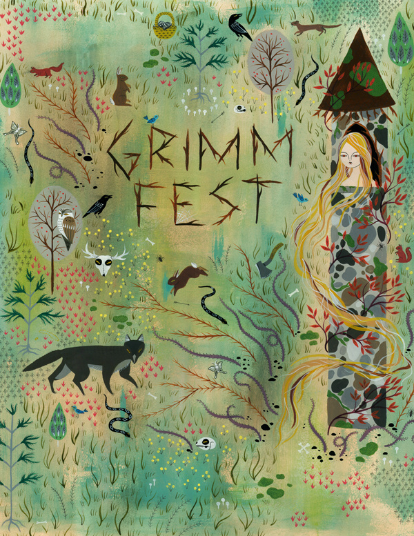"GRIMMFEST POSTER Illustration for the Canadian Opera Company, 17""x22"", Acrylic on Paper - Available"