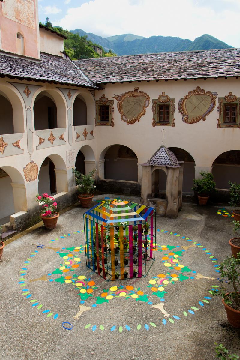 """Installation view """"Plantes Voyageuses"""" at Le Monastère de Saorge"""