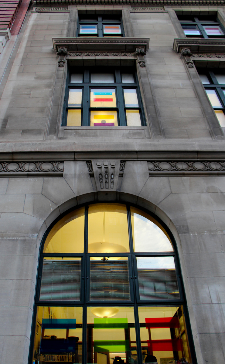 LIFEBOAT, 2014, Window Installation at Muhlenberg Library NYPL, Chelsea, New York, NY