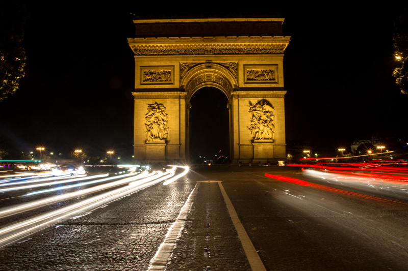 arc de triomphe, paris 2013