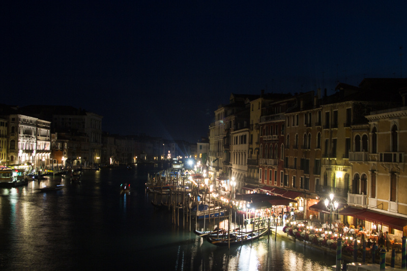 view from rialto bridge, venice 2013