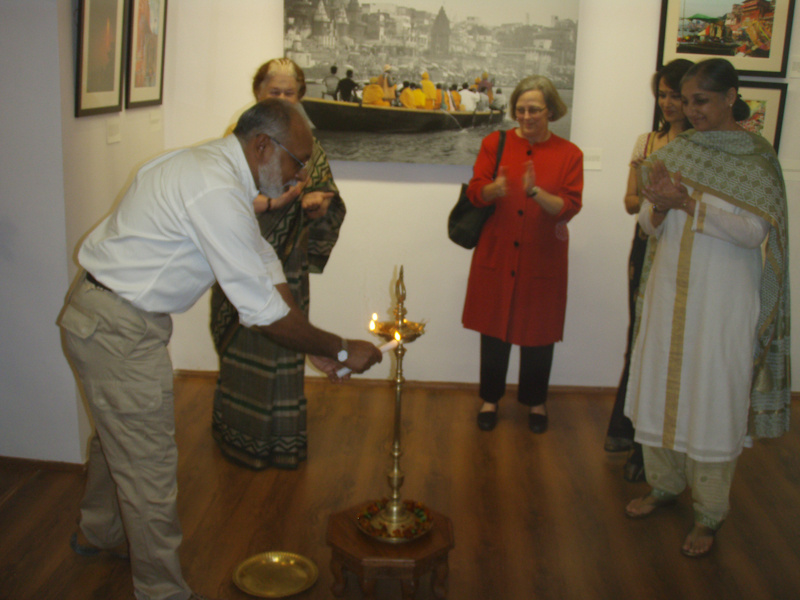 lighting the lamp