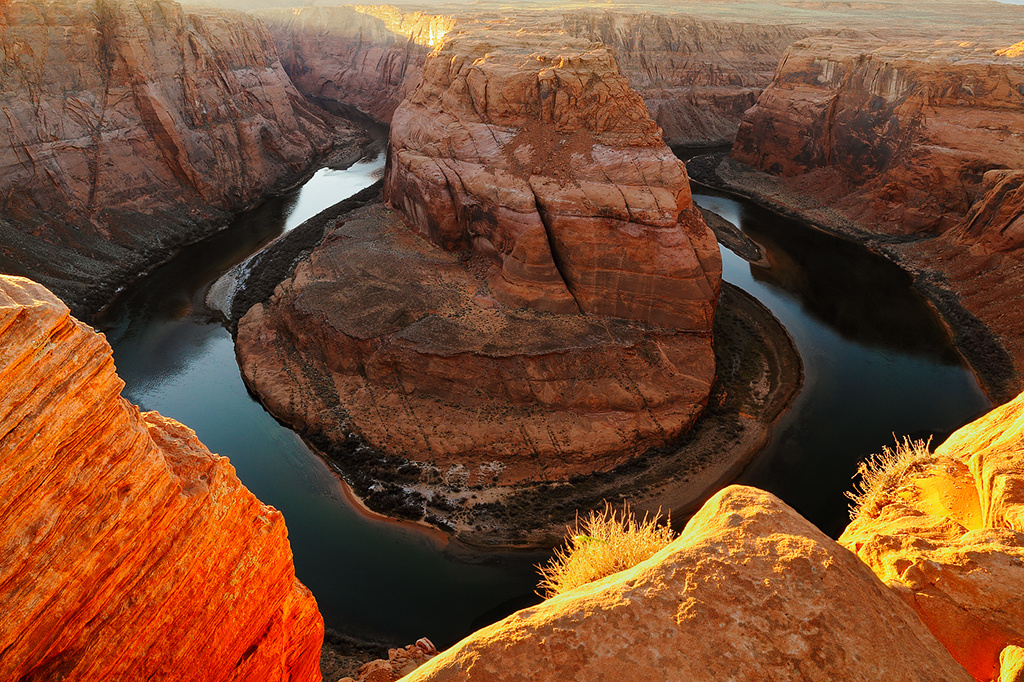Horseshoe Bend in Golden Light