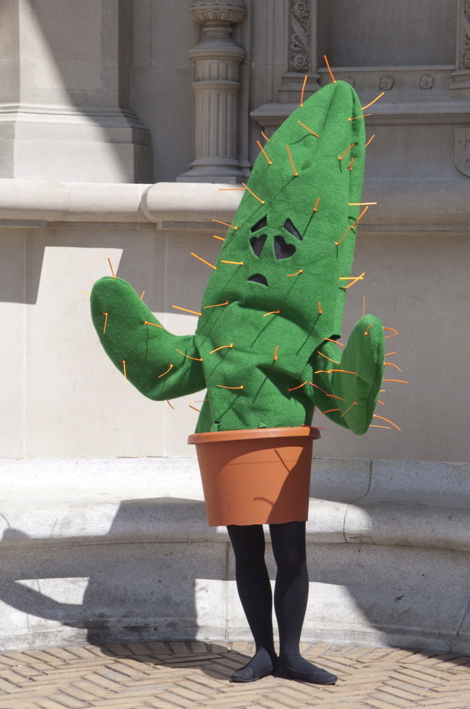 The Love (Sic) Cactus from Stalking Walking Topiary