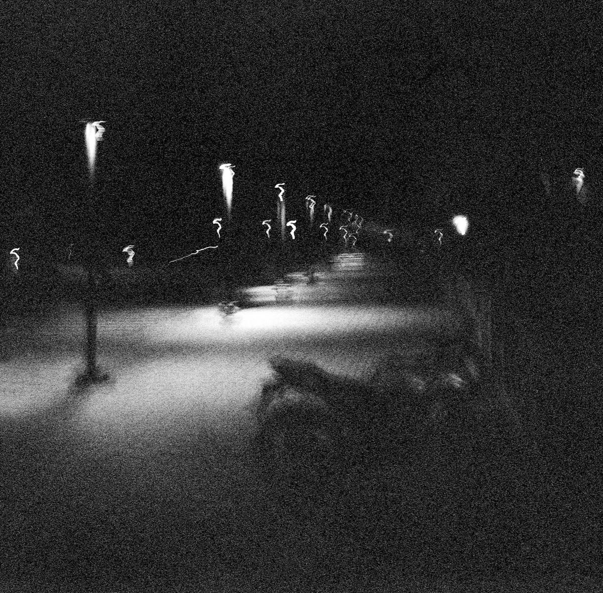 Lamp Posts and a Motorcycle, Raichak 2015   Edition 1 of 2