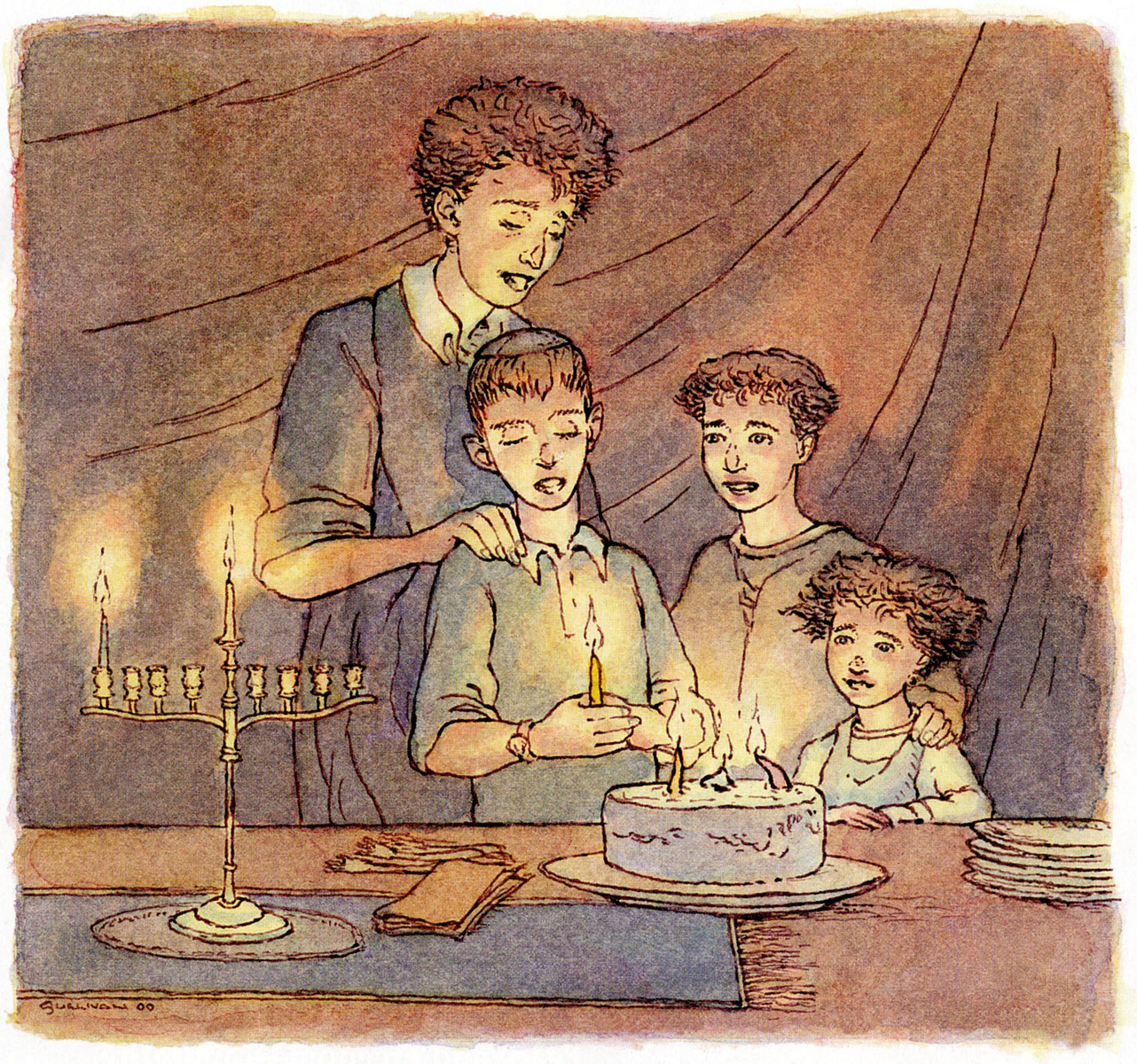 "Illustration for ""HANUKKAH MEANS HOPE"""