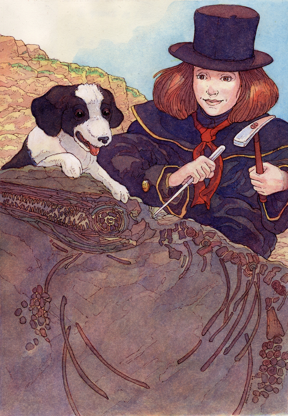 Cover Illustration for THE DOG THAT DUG FOR DINOSAURS