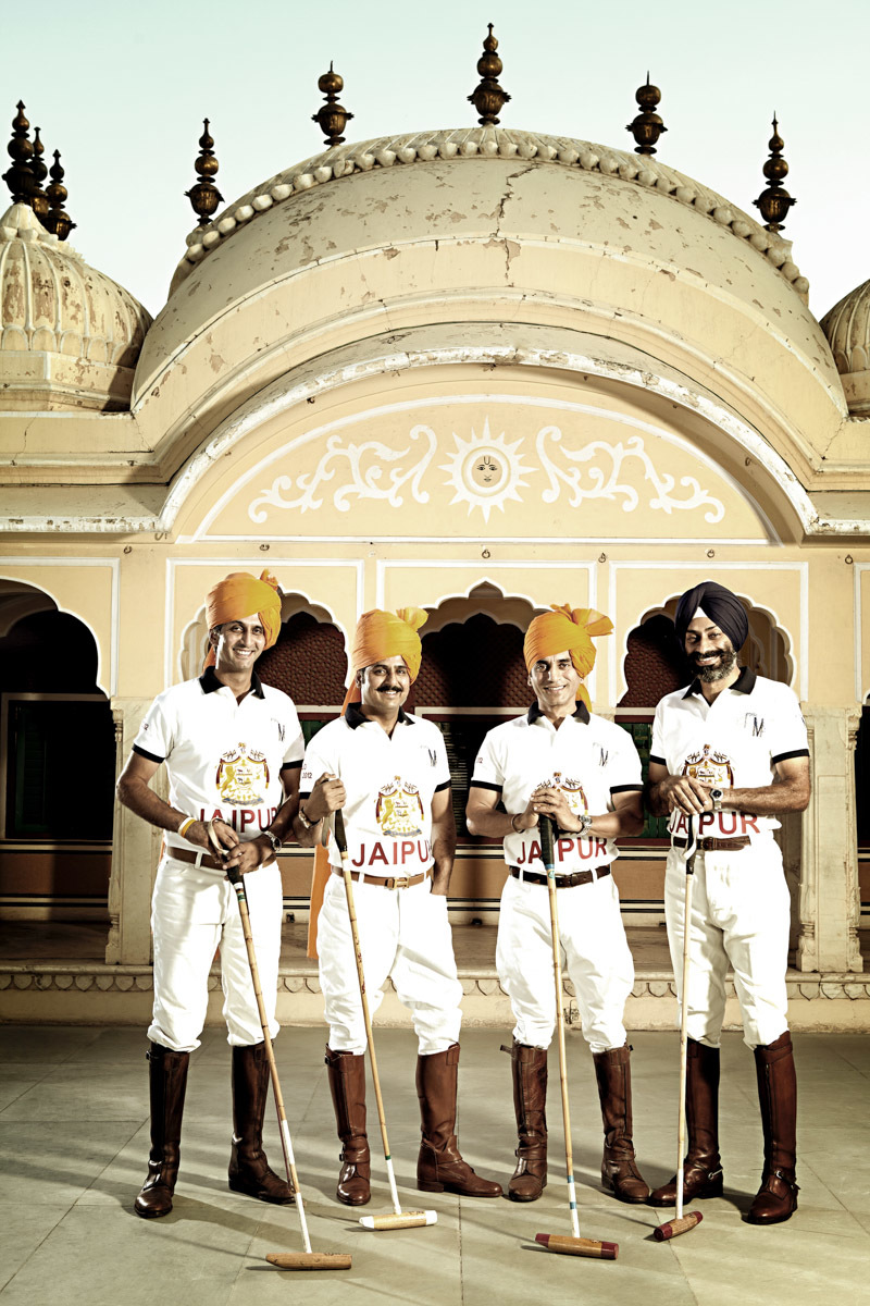 Maharaj Narendra Kumar & Jaipur Polo Team - Hello Magazine