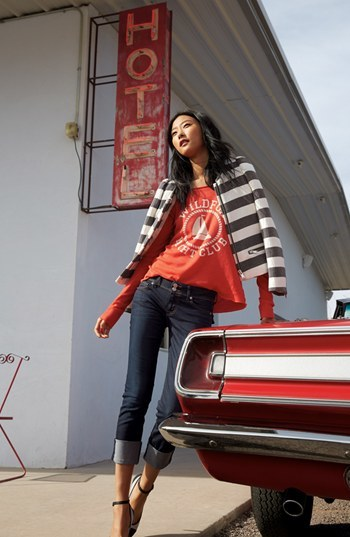 Stripe Crop Jacket