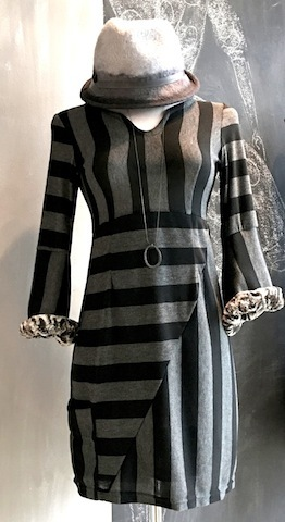 LEXI TUNIC DRESS W FUR LINED CUFF 189.